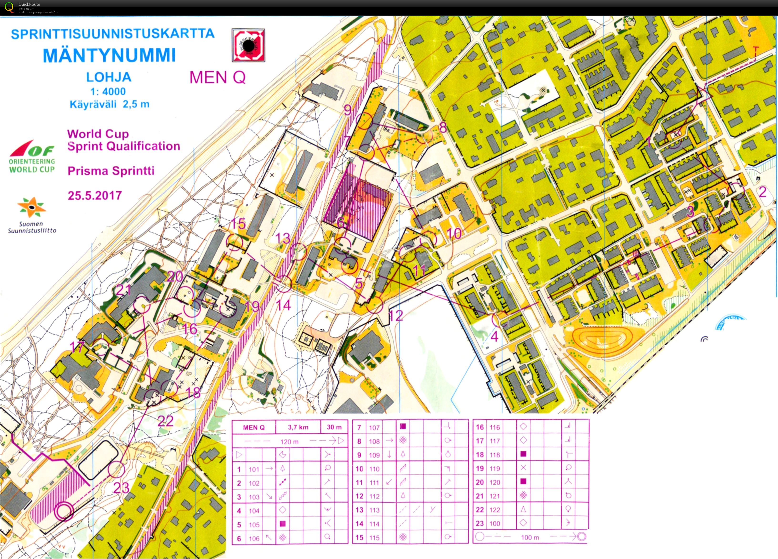World Cup Sprint Qual May 25th 2017 Orienteering Map from Bryan