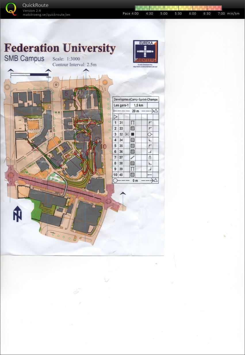 National Junior Camp Sprint Champs Map 1 (16/12/2018)