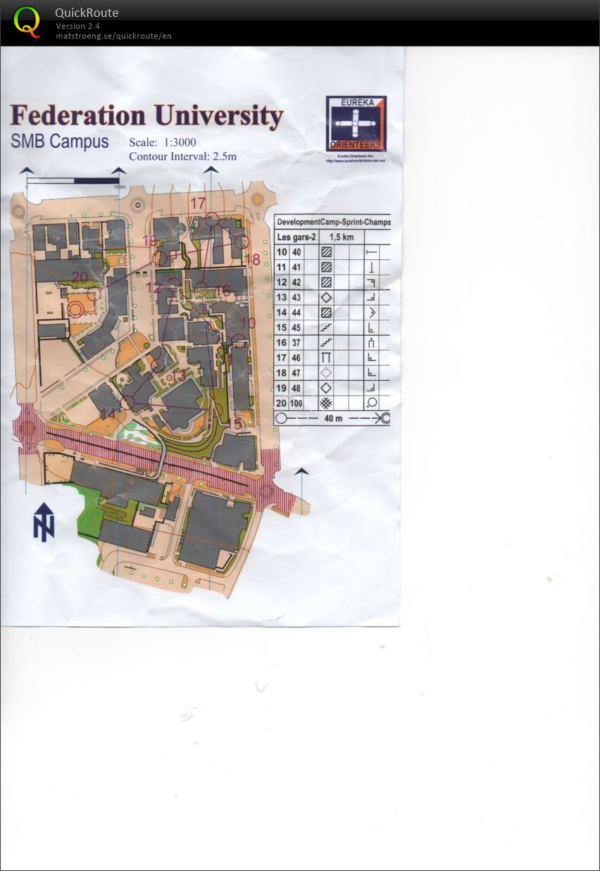 National Junior Camp Sprint Champs Map 2 (16/12/2018)