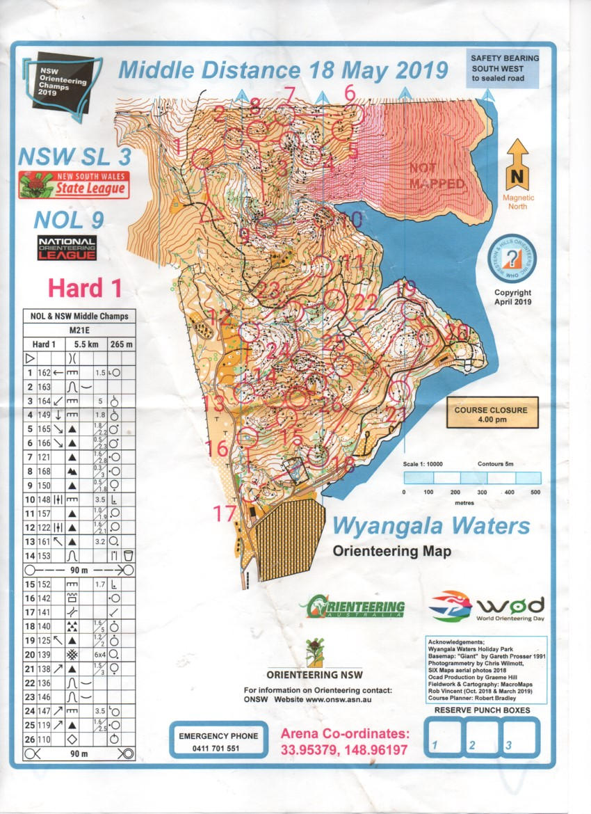 2019 NSW Middle Distance Championships and NOL (20/05/2019)
